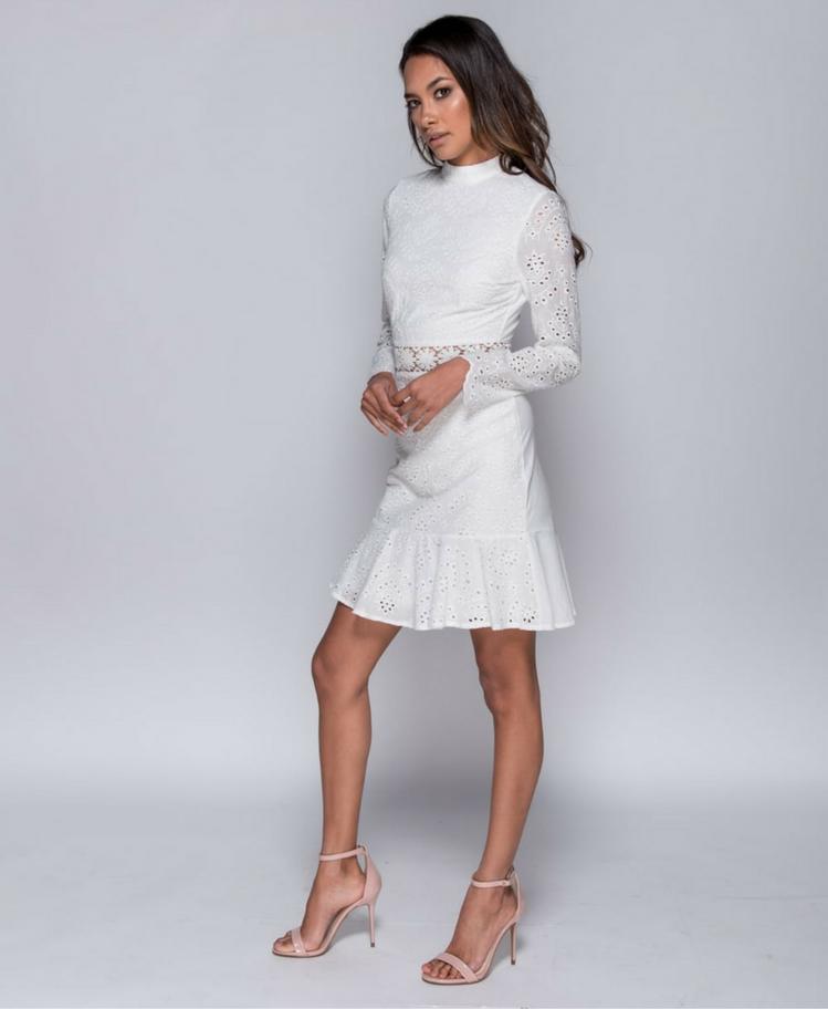 Sukienka z Koronki z Długim Rękawem Secret Wish Boutique-2