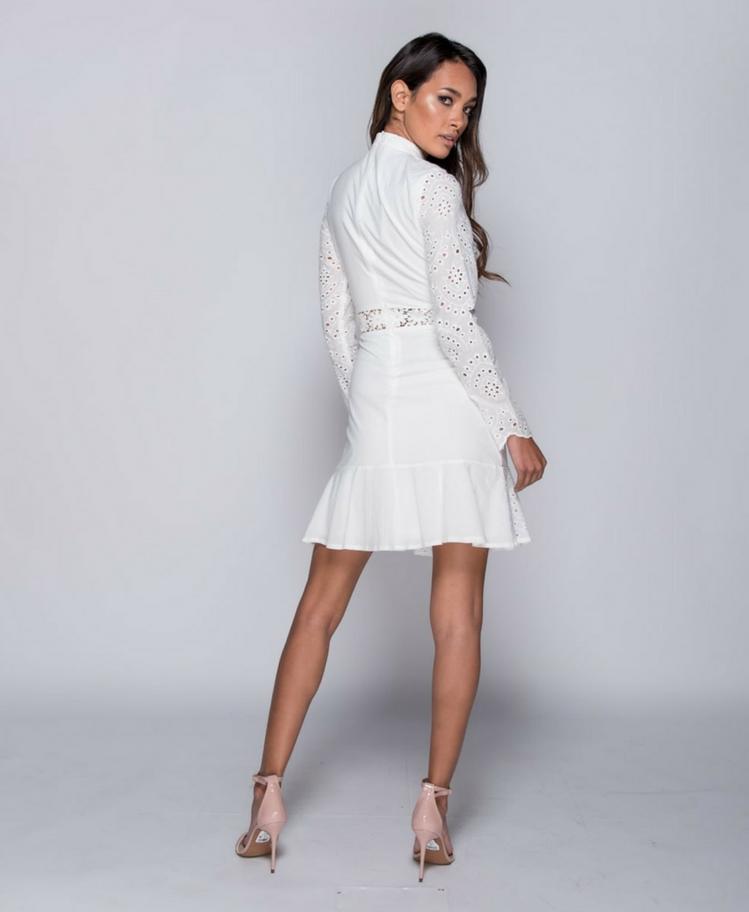Sukienka z Koronki z Długim Rękawem Secret Wish Boutique-3