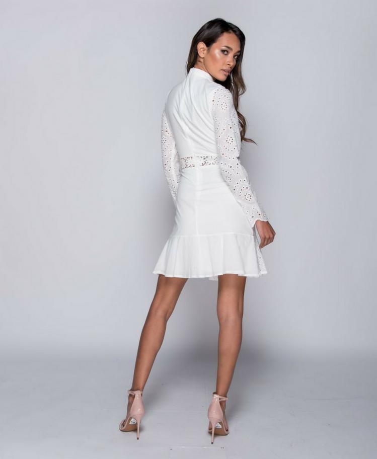 Sukienka z Koronki z Długim Rękawem Secret Wish Boutique-5