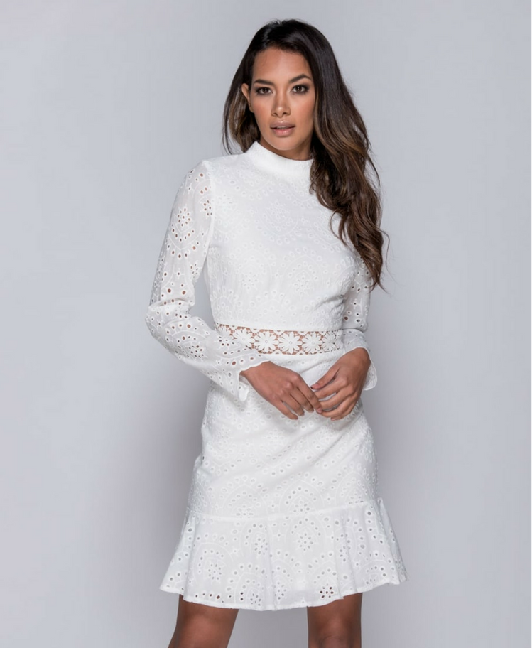 Sukienka z Koronki z Długim Rękawem Secret Wish Boutique
