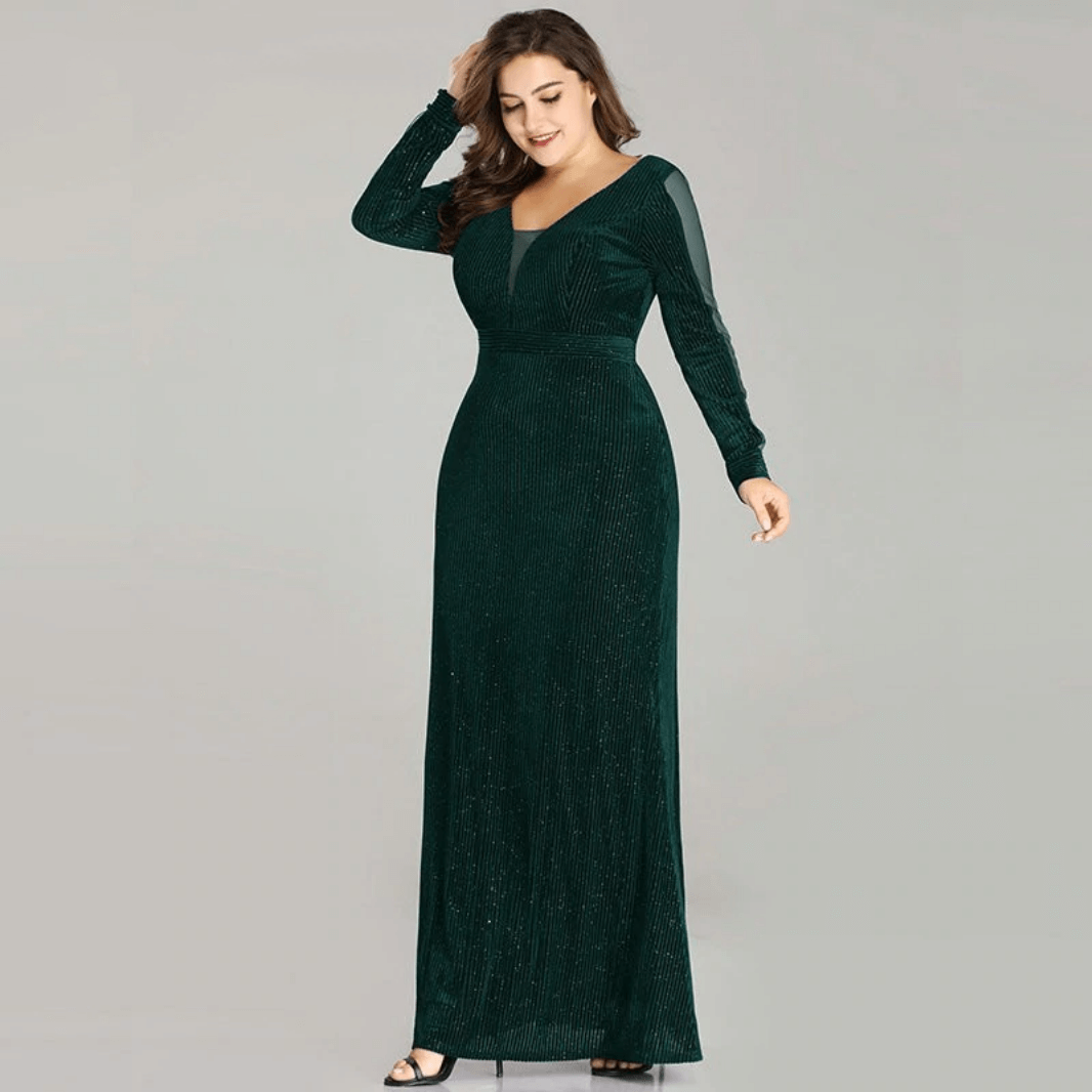 Fanita Sukienka Elegancka z Długim Rękawem Maxi