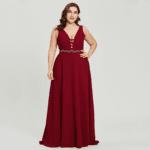Secret Wish Sukienka Wizytowa Bordowa Długa Bez Rękawów z Odobą Maxi