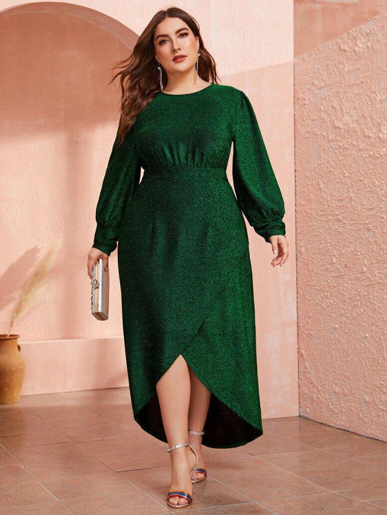 sukienki plus size długim rękawem