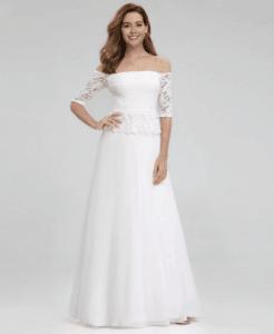 Suknia Ślubna Koronkowa w Stylu Hiszpańskim Maxi