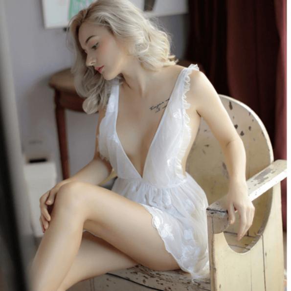 Screenshot_2020-04-07 47 15zł 45% OFF Sexy mus kobiety odzież do snu koronki krótka spódniczka, bez pleców, biały Lolita wy[…](2)