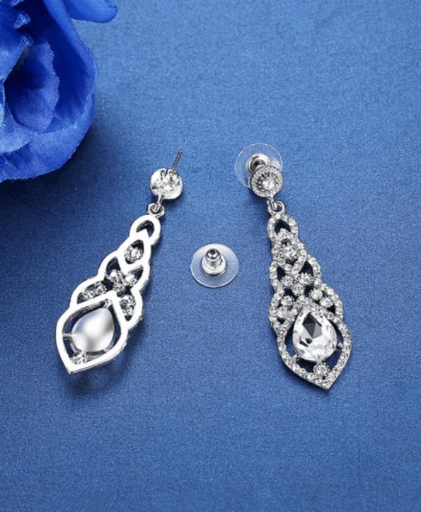 Secret Wish Boutique Biżuteria Kolczyki Kryształowe Długie Zdobione Wkładane (1)