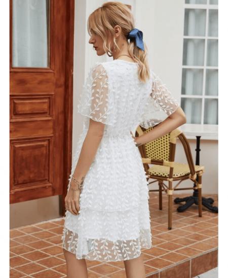 Boname Sukienka Koronkowa Biała