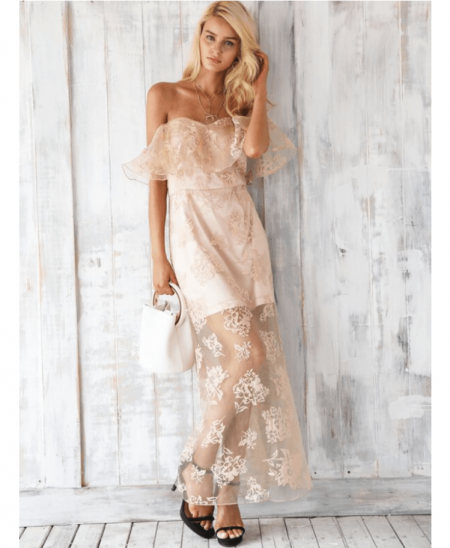 Tefally Sukienka Koronkowa Róż