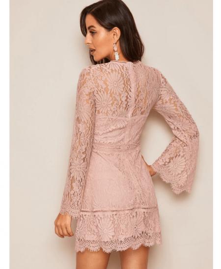 Fonista Sukienka Koronkowa Róż