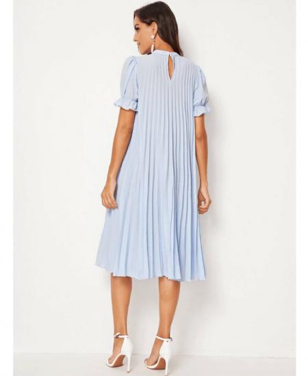 Misttay Sukienka Plisowana Niebieska