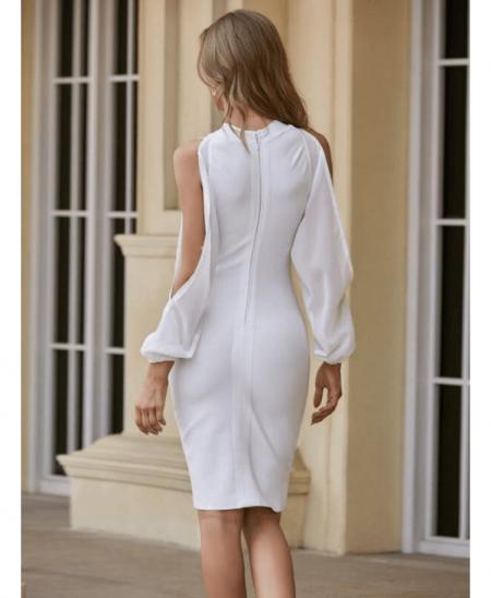 Billavia Sukienka Biała Dopasowana