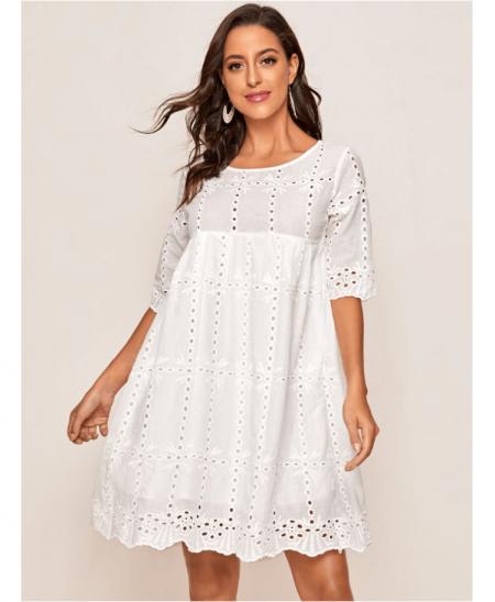 Falliona Sukienka Koronowa Biała