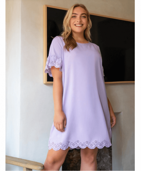 Berrely Sukienka Fioletowa Mini