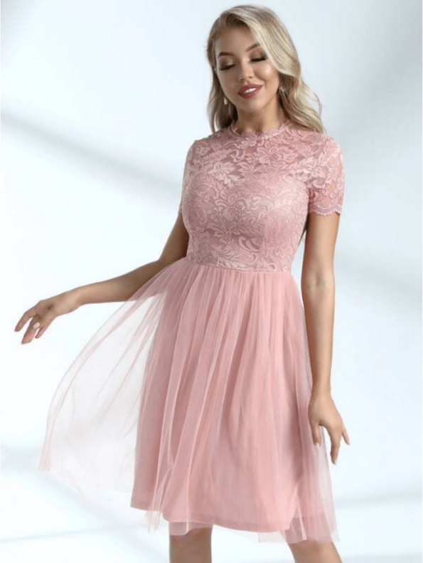 Lemmen Sukienka Koronkowa Róż
