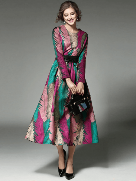 Canney Sukienka Kolorowe Wzory