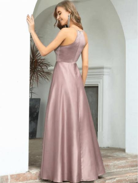 Revia Sukienka Satynowa Dopasowana