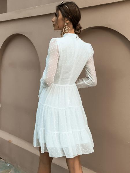 Levennia Sukienka Koronkowa Biała