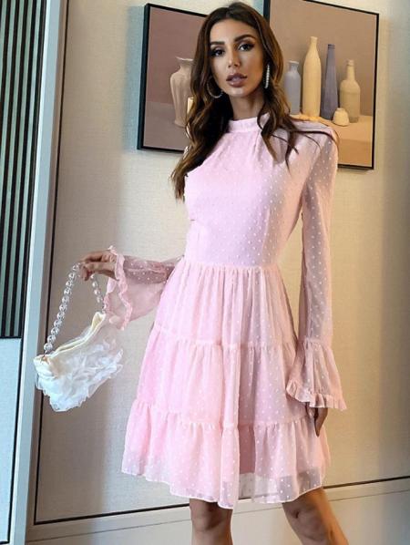 Levennia Sukienka Koronkowa Róż
