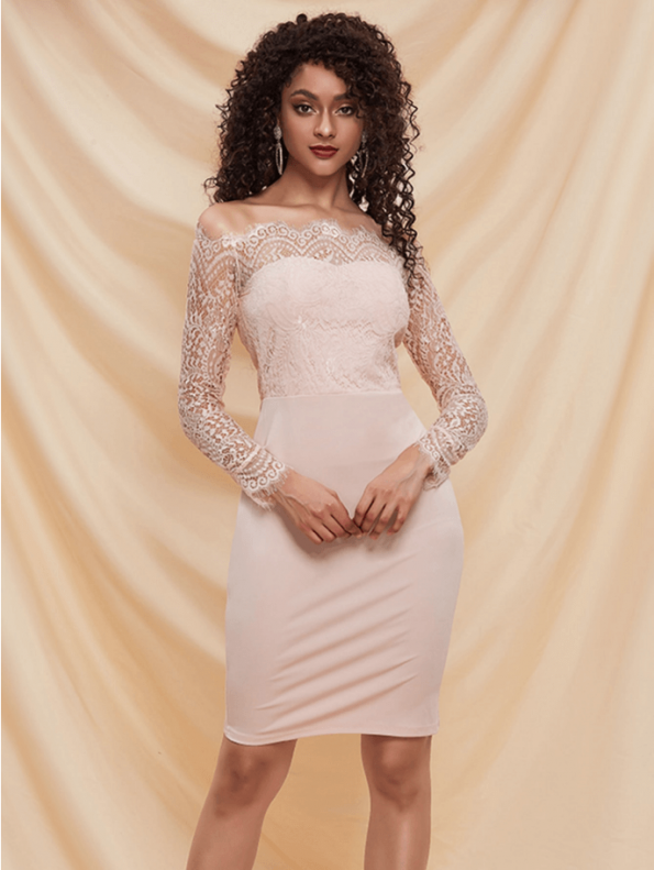 Fionatta Sukienka Ołówkowa Koronkowa