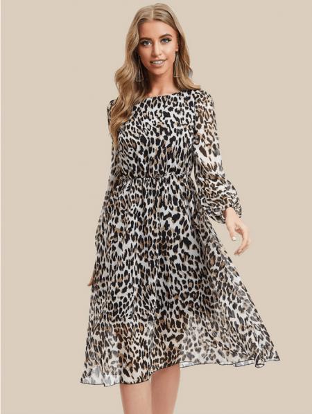 Capris Sukienka w Panterkę