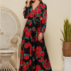 Alliona Sukienka Czerwone Kwiaty