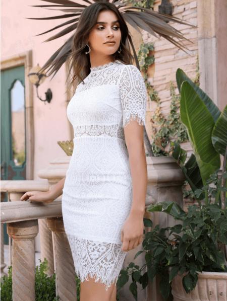 Antuan Sukienka Koronkowa Biała