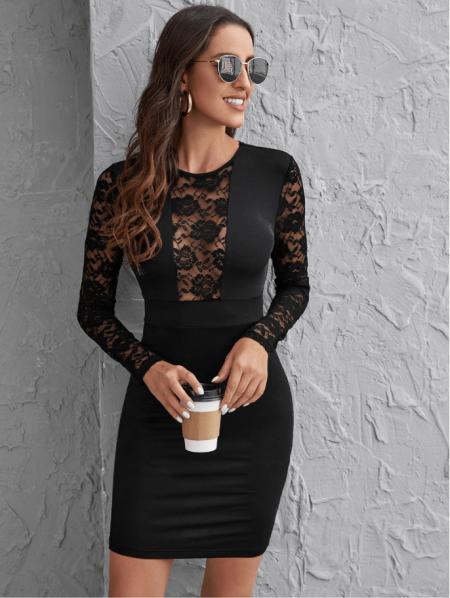 Mirella Sukienka Czarna Ołówkowa