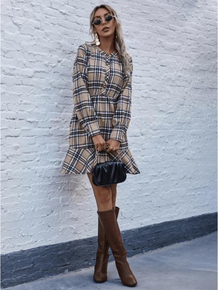Tallisa Sukienka Beżowa Mini