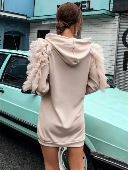 Vellonia Sukienka/Bluza Beżowa