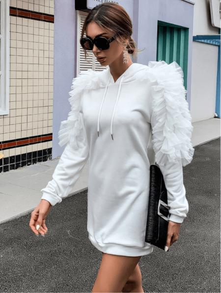 Vellonia Sukienka/Bluza Biała