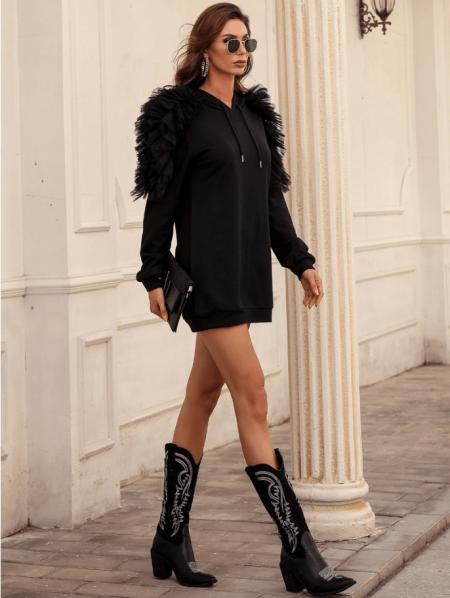 Vellonia Sukienka/Bluza Czarna