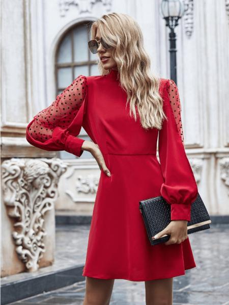 Lorrissan Sukienka Czerwona Mini