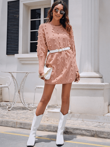 Effesya Sukienka Sweterkowa Mini