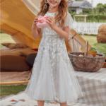 Ballandi Sukienka Biała Haftowana