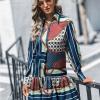 Sevien Sukienka w Kolorowe Wzory