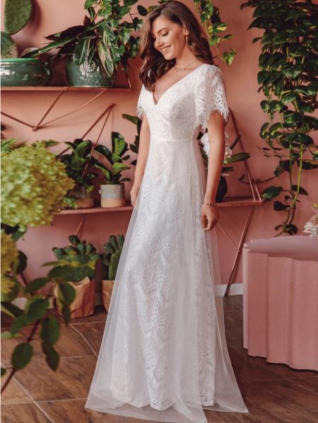 Femme Suknia Ślubna Koronkowa