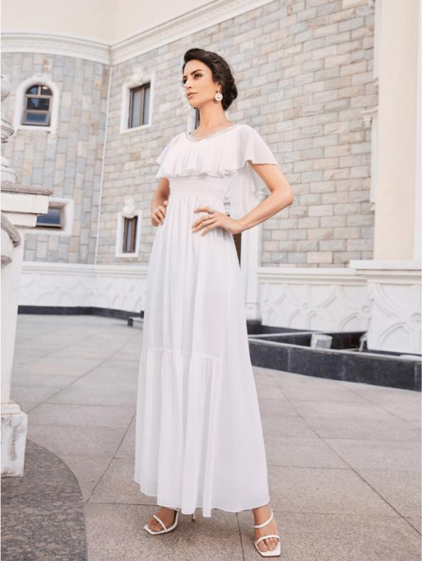 Secret Wish Boutique Sukienka Marynarka Beżowa z Długim Rękawem Mini-1