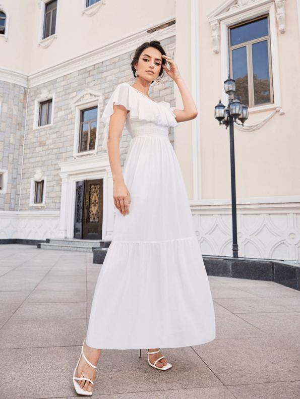 Secret Wish Boutique Sukienka Marynarka Beżowa z Długim Rękawem Mini-2