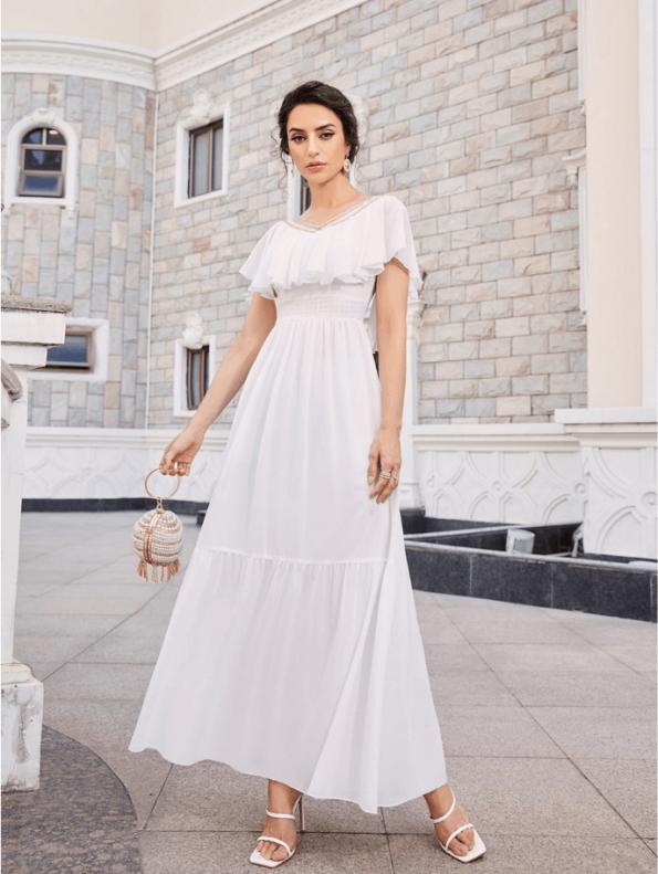 Secret Wish Boutique Sukienka Marynarka Beżowa z Długim Rękawem Mini-3