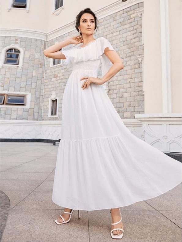Secret Wish Boutique Sukienka Marynarka Beżowa z Długim Rękawem Mini-4