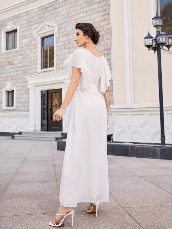 Secret Wish Boutique Sukienka Marynarka Beżowa z Długim Rękawem Mini